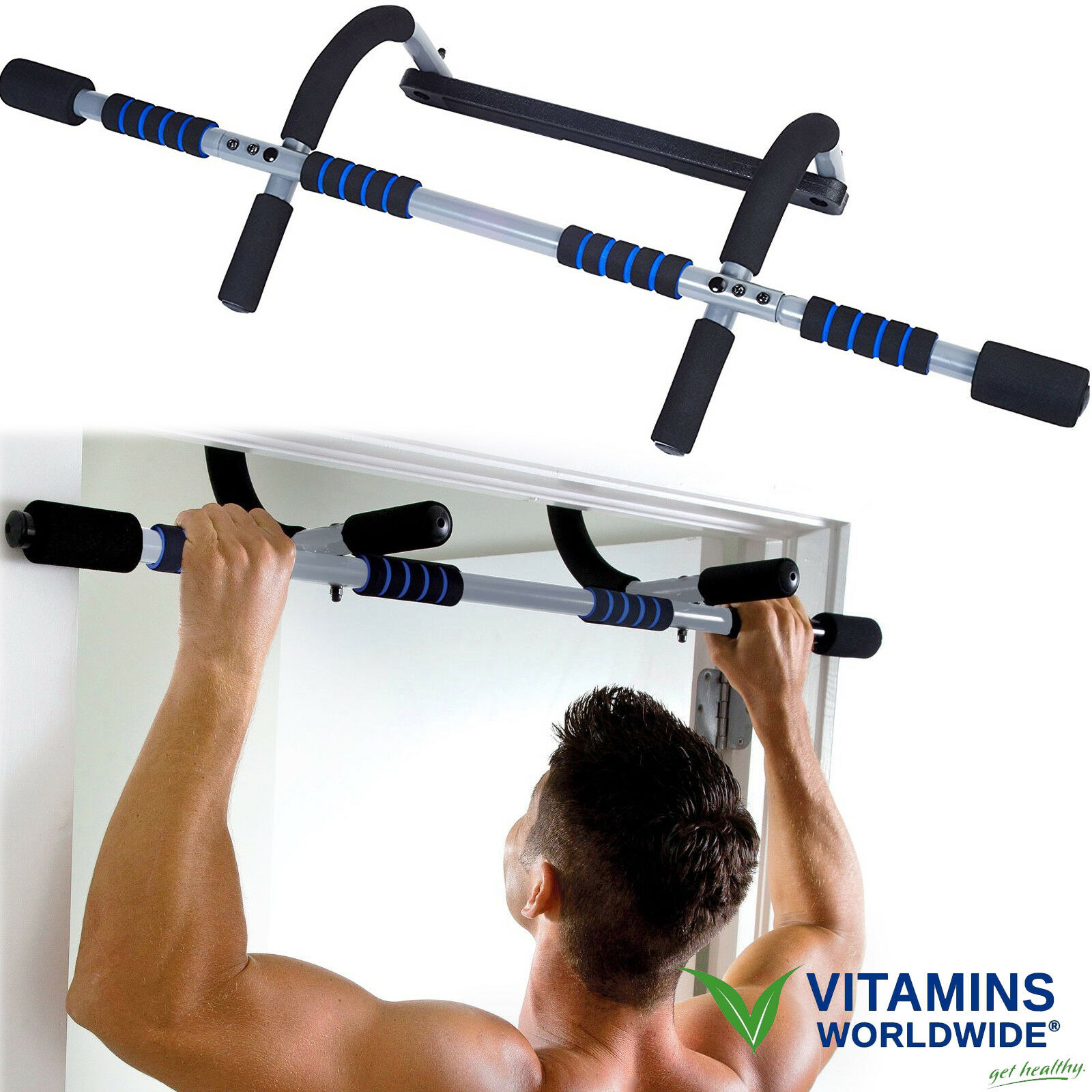 Door Frame Pull Up Bar Chin Up Exercise Doorway Fitness